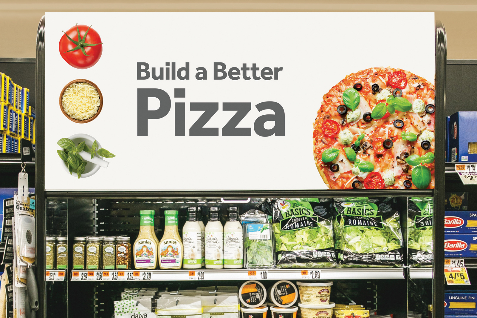 Stop & Shop build a better pizza sign