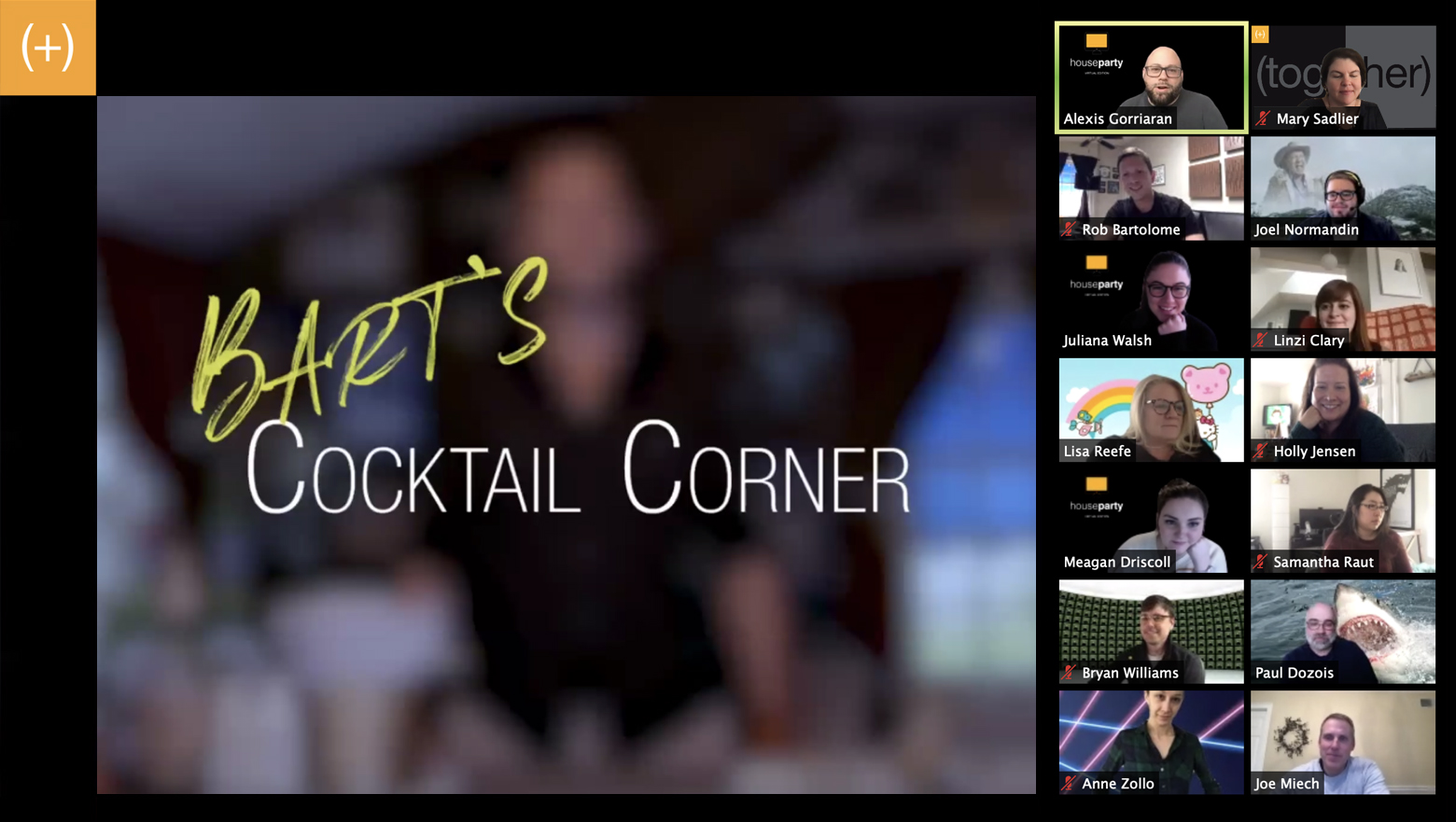 Virtual Meeting - Bart's Cocktail Corner