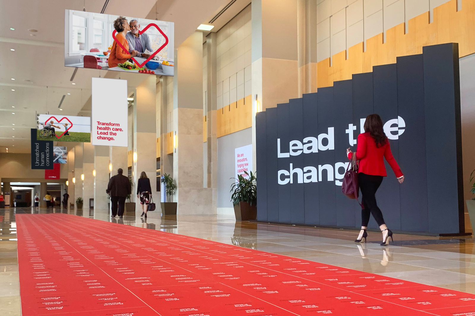 Main hall of the CVS Paragon Awards - Lead the Change banner.
